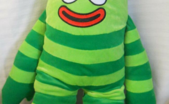 Yo Gabba Gabba Brobee Plush Pillow Cuddle Pal Green