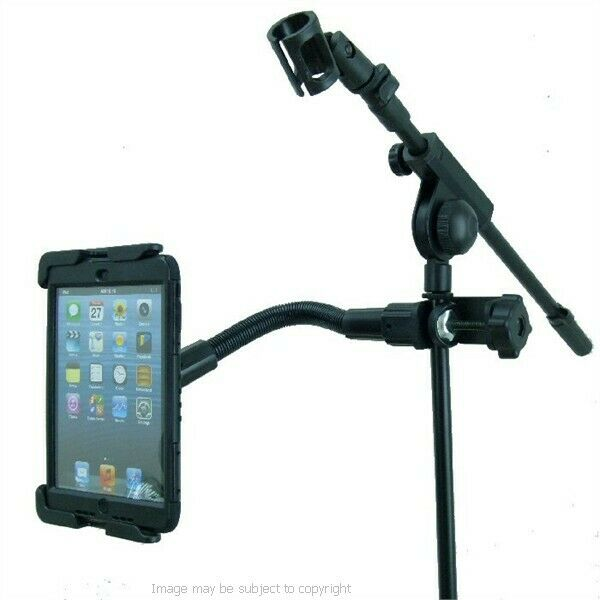 """Deluxe 12"""" Flexible Music / Mic Stand Tablet Mount Holder"""