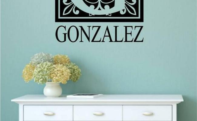 Personalized Monogram Name Vinyl Wall Art Decal Word