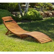 Outdoor Patio Furniture Folding & Portable Chaise Lounge