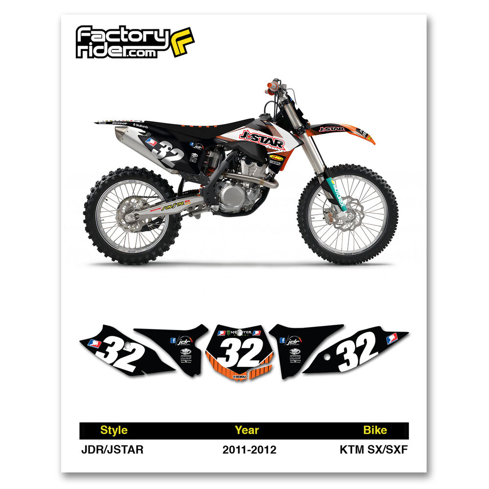 2011-2012 KTM SX-SXF Dirt Bike Graphics Motocross Custom