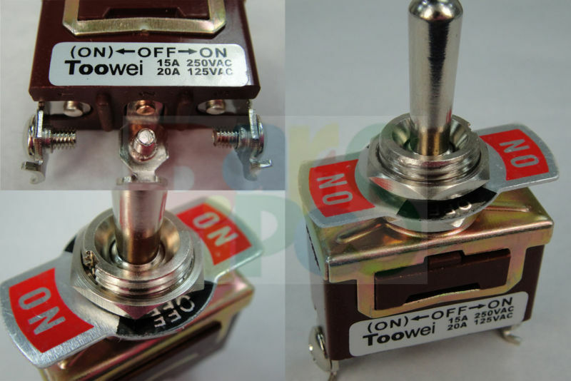 Heavy Duty Toggle Switch Dpdt Onon 20a