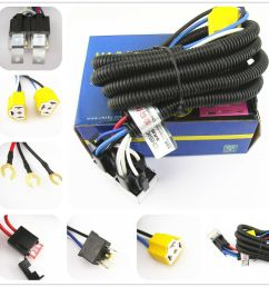oem ceramic h4 headlight relay wiring harness 2 headlamp light bulb h4 9003 h4 headlight wiring harness [ 1000 x 1000 Pixel ]