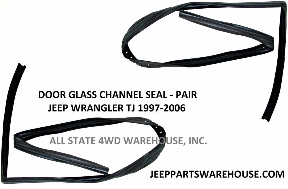 Front Upper Window Glass Run Channel Seals, pair,1997-06