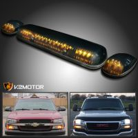 3 Pieces Truck Pickup Smoke Amber LED Cab Roof Running ...