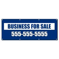 BUSINESS FOR SALE CUSTOM PHONE Banner Sign 4 ft x 2 ft /w ...