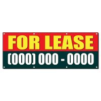 FOR LEASE Custom Phone Number 2 ft x 4 ft Banner Sign w/4 ...