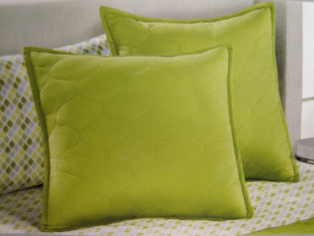 EURO  Apt 9  Terrace Green  Gray Quilted PILLOW SHAM