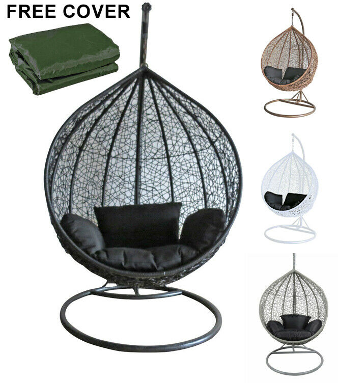 Rattan Swing Chair Outdoor Garden Patio Hanging Wicker