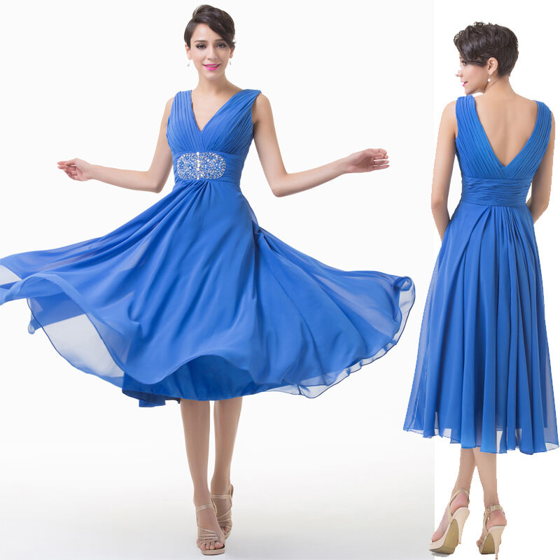1950s VNeck Mother of the Bride Wedding Evening Semi Formal Party Prom Dresses  eBay