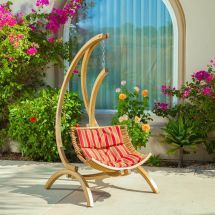 Outdoor Patio Furniture Wooden Hanging Chair Swing