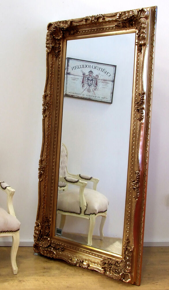 Louis Large Ornate Carved French Frame Wall Leaner Mirror