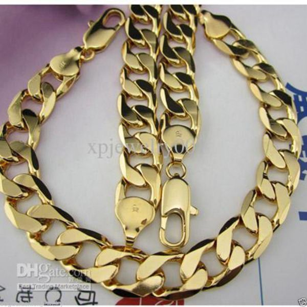 18K Solid Gold Chain Necklace
