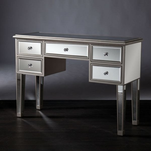 Hollywood Regency Bathroom Vanity Mirrored Furniture Table