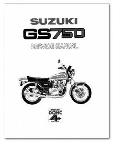 1979-1982 Suzuki GS750 8 Valve Motorcycle Service Manual