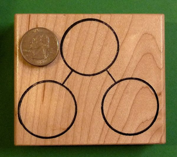 Total Parts Number Bond Large - Wood Mounted Rubber Stamp