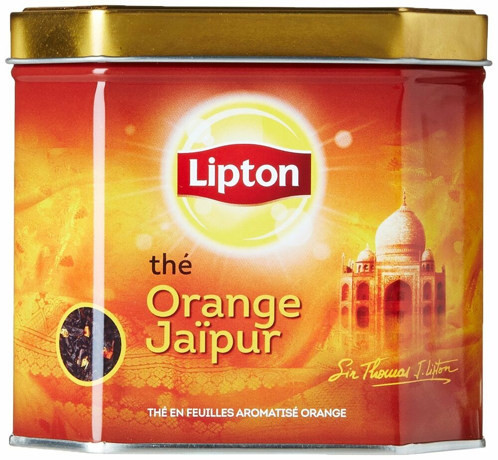 Lipton Orange Jaipur Loose Tea 1 Tin with Real Tea Leaves