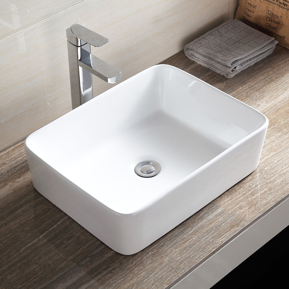 NEW DESIGN RECTANGLE COUNTER TOP BASIN SINK UNIT CERAMIC