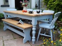 6 ft Farmhouse Solid Pine Kitchen Dining Table Painted ...