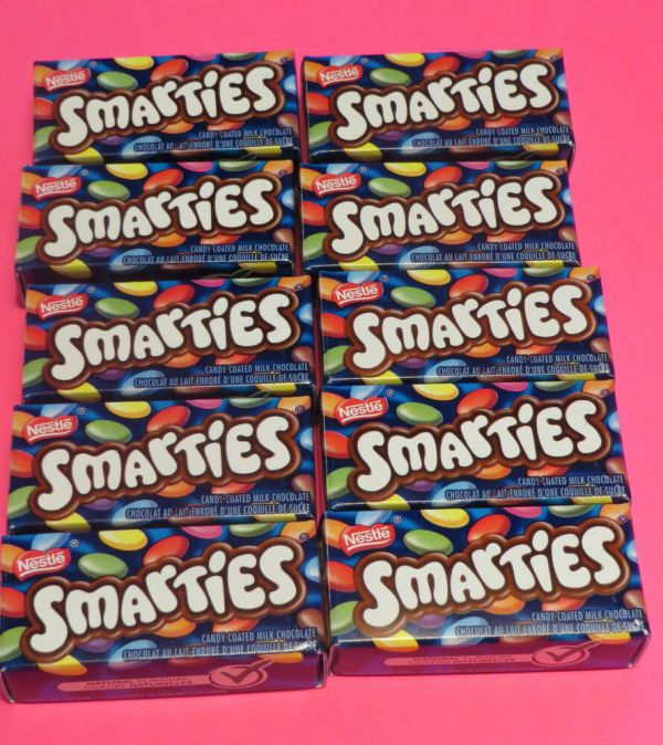 Nestle Candy Coated Milk Chocolate Smarties In Mini-box