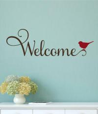 Welcome Bird Vinyl Decal Wall Decor Sticker Words ...