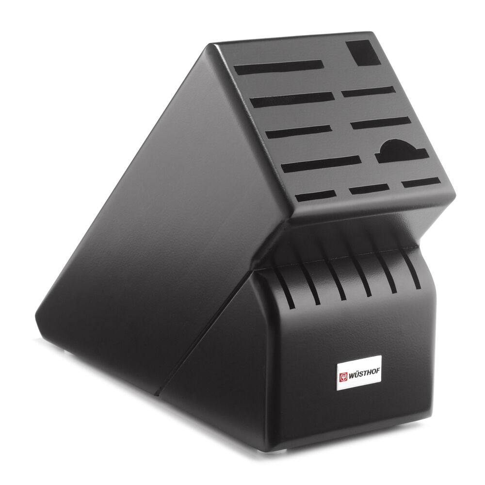 wusthof kitchen knives cabinet finishes 17-slot knife block - black | ebay