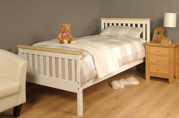 Single Bed In White Pine 3ft Single Bed Wooden Frame White