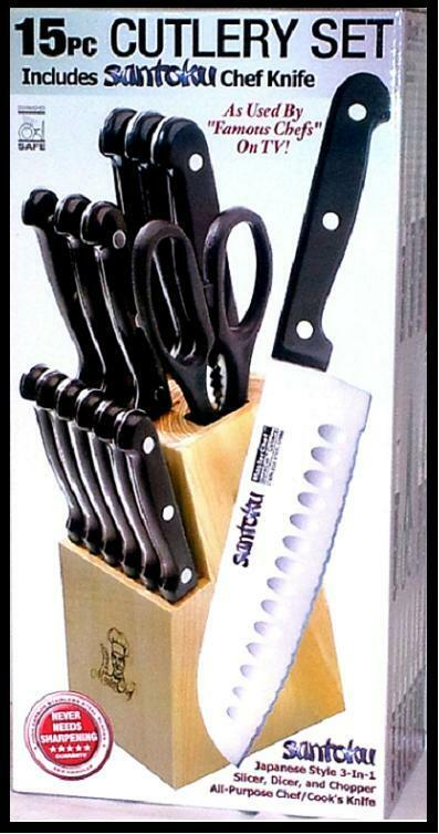 red kitchen knife block set laminate table masterchef duracut 15 pc 7