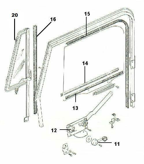 Door Glass Wipe Seal Strip Right Outer 1976-1995 Jeep CJ7