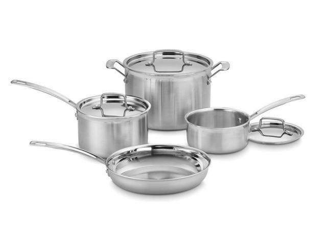 Cuisinart 7pc Stainless Steel Multiclad Pro Cookware Set