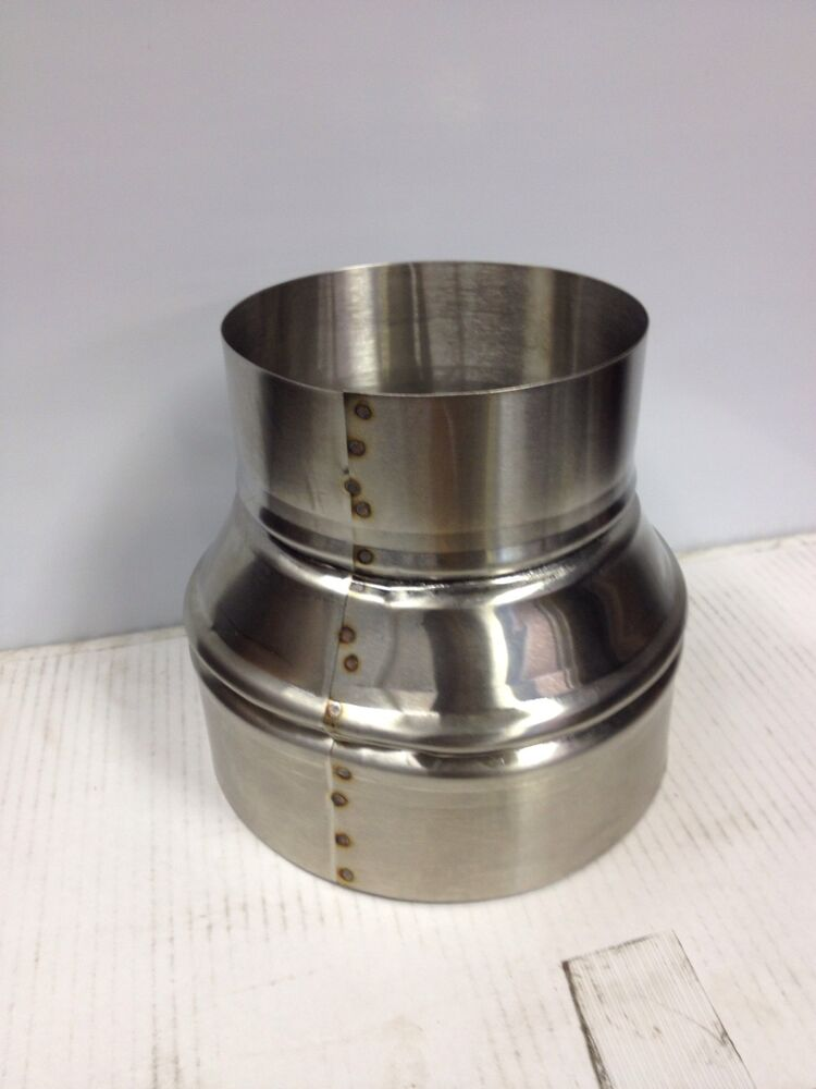 6 inch to 7 inch stove pipe Stainless Steel Single Wall