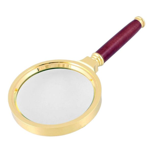 90mm Handheld 10x Magnifier Magnifying Glass Loupe Reading Jewelry Tools