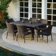 7-piece Outdoor Patio Furniture Elegant Brown