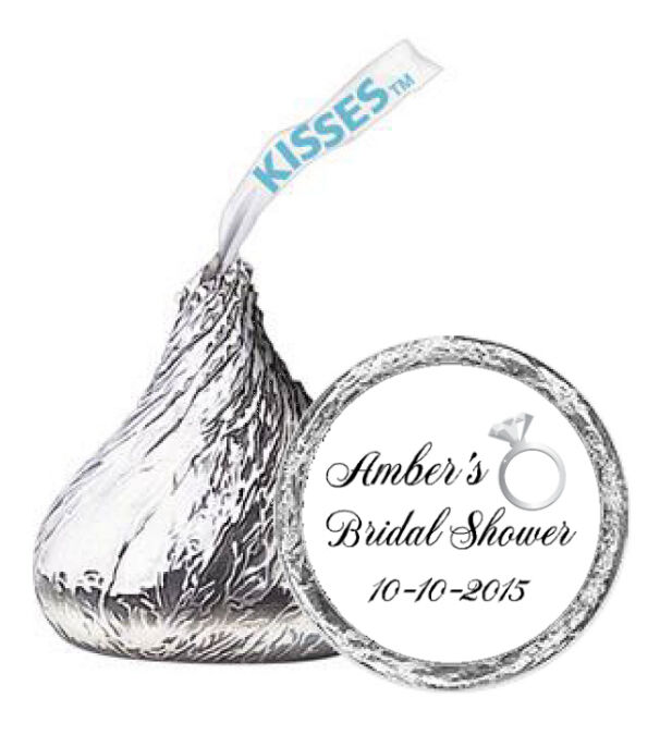 Bridal shower Hershey's kisses 108ct labels stickers