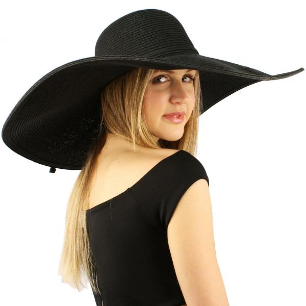 "Summer Elegant Derby Big Super Wide Brim 8"" Floppy"