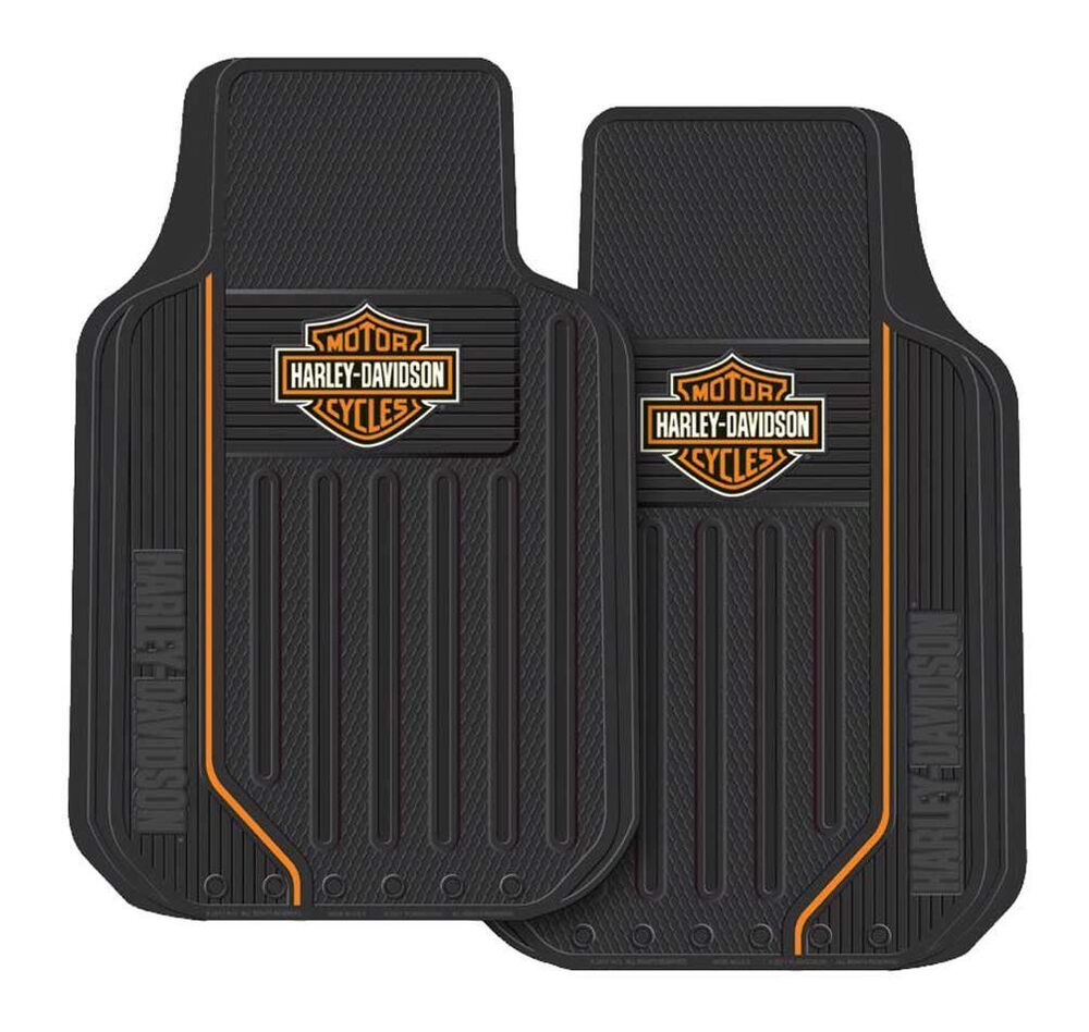harley davidson motorcycle floor mats rubber car truck