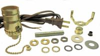 LAMP PART KITS: 8' BROWN CORD, OFF/ON BROWN PULL-CHAIN ...