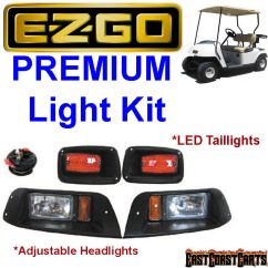 Car Headlight Wiring Diagram Swm Lnb Ezgo 1996-2013 Txt Adjustable Halogen Light Kit W/led Tail Lights | Ebay