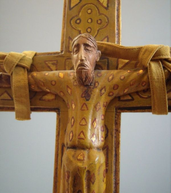 Carved Wooden Cross Crucifix