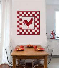 Rooster Chicken Vinyl Decal Wall Sticker Primitive Country ...