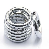 6 Loose Push Gate Rings Clasp Snap Hook Spring Keyring