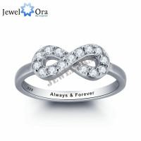 Personalized Infinity Love Promise Rings Sterling Silver ...