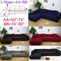 2seats 3seats Plush Stretch Sure Fit L-shaped Sectional