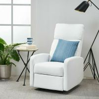 Contemporary White Leather Recliner Club Chair | eBay