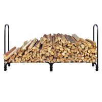 New 8 Feet Outdoor Heavy Duty Steel Firewood Log Rack Wood ...