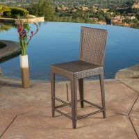 Outdoor Patio Furniture All-weather Brown Wicker Barstool ...