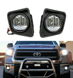details about complete 15w cree led fog lights w bezel covers wiring for 14 up toyota tundra [ 1000 x 1000 Pixel ]