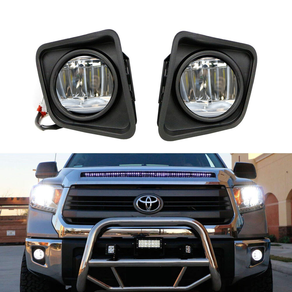 medium resolution of details about complete 15w cree led fog lights w bezel covers wiring for 14 up toyota tundra