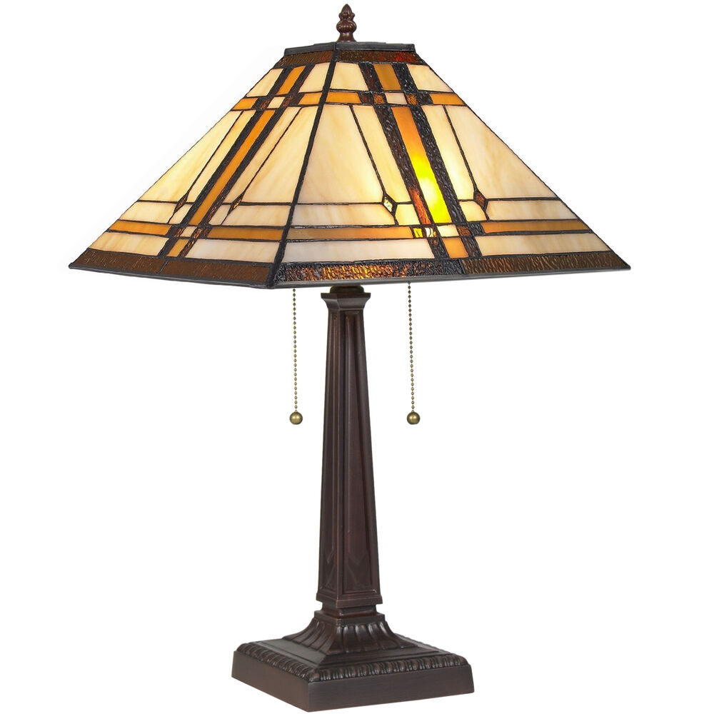 BCP Tiffany Style Table Reading Lamp Mission Design Table Desk Lighting  eBay
