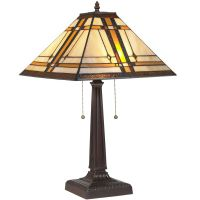 BCP Tiffany Style Table Reading Lamp Mission Design Table ...